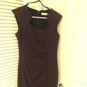 Sleeveless purple dress